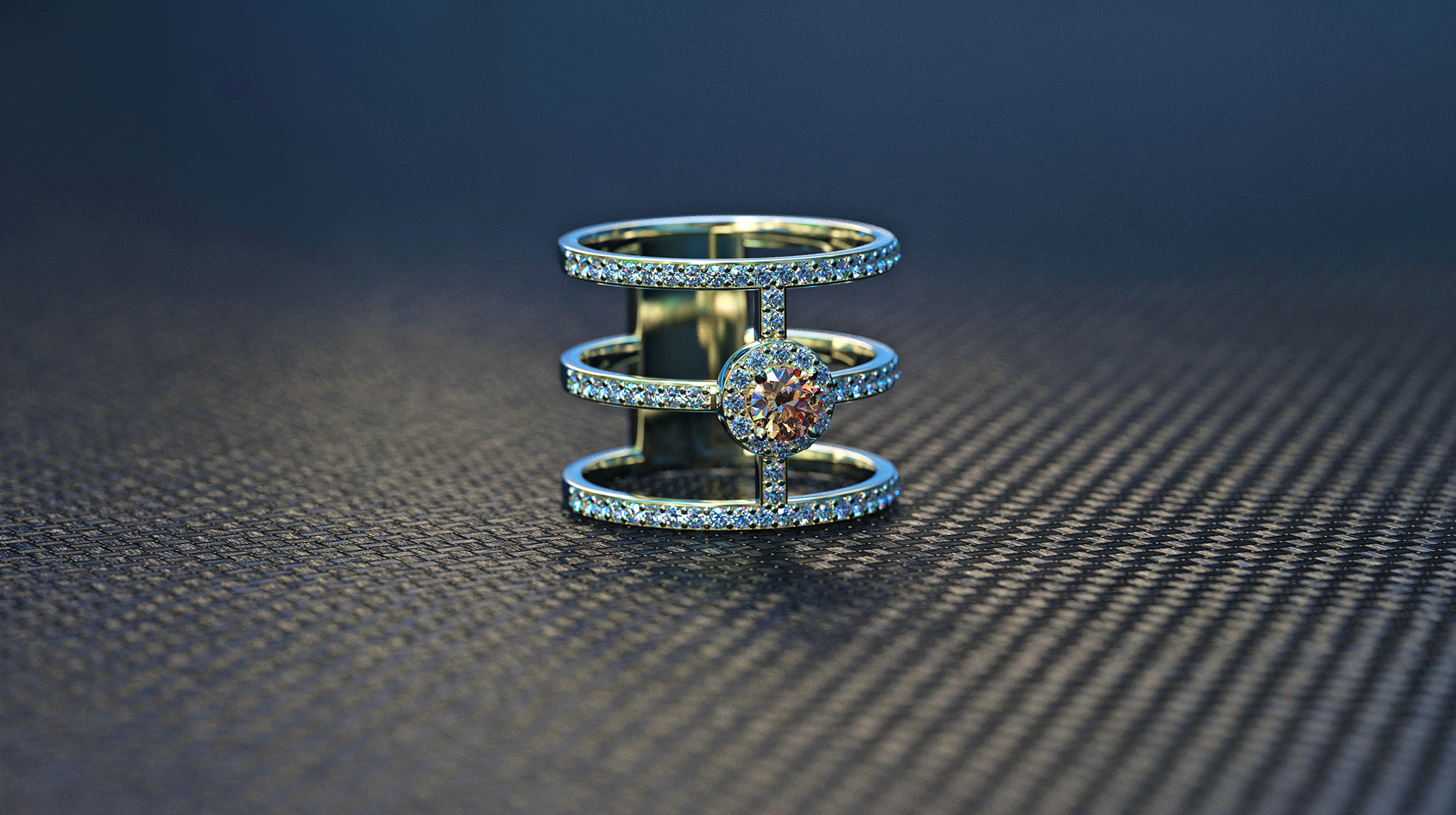 Stacked Ring Cognac Diamond